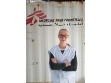 Läkaren Annika Holgersson, på plats i Bosnien.
