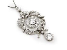 Belle Époque diamond pendant
