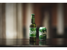 Carlsberg bottle and can