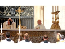 Påven Franciskus och biskop Anders Arborelius