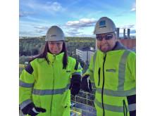 Säkerhetsvecka för kollegor på montage Strängbetong