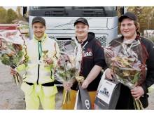 Dagens pristagare från kvaltävlingen i Karlshamn.