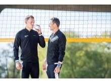 Vitamin Well x beachvolleyspelarna Martin Appelgren och Simon Bohman