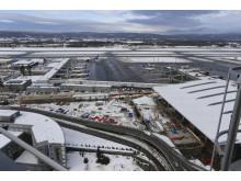 Utsikt fra tårnet ved Oslo Lufthavn