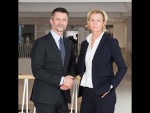 Urban Englund, ordförande i Praktikertjänst, och Carina Olson, vd och koncernchef.