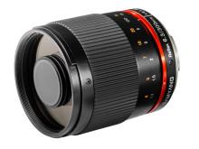 Samyang 300mm 6,3 CS sort skråt forfra