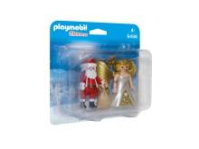 Tolle Geschenkidee: Weihnachtsmann und Engel im Duo Pack von PLAYMOBIL (9498)