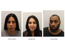 (L-R) Monica Pashias, Harpreet Kaur and Tyrone Waugh