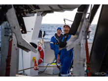 Hi-res image - Inmarsat - Mike Pownall observing sub launch on sea-trials