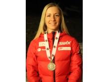 Emilie Kalkenberg med medalje, sprint kvinner ungdom, junior-VM