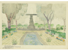 Kungsträdgården, förslag av Josef Frank ur ArkDes samlingar