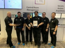 Adder team collects InfoComm 2019 Best of Show Award