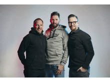 Mattias Andersson, Tobias Karlsson and Thomas Nord