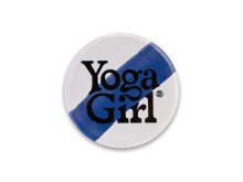 Yoga Girl blue stripe logo badge