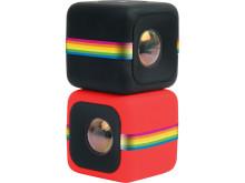 Polaroid Cube, röd och svart gruppbild
