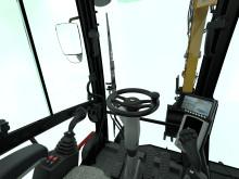 Cat M315F hjulgrävare - inuti hytt