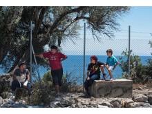 Asylsökande på Lesbos, Grekland, sommaren 2017.