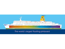 The world's largest floating pinboard