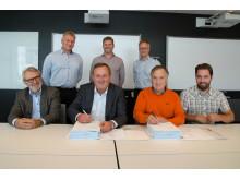 Signering av kontrakt for bygging av infrastruktur i Roan vindpark 2