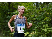 Maria Larsson, Örgryte IS, vinner sitt andra raka TCS Lidingöloppet 30