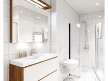 3D-visualisering av Alléhusets badrum