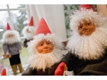 Tomtar på en skånsk julmarknad