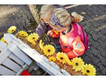 Børnehavebørn pynter Pjerrots Hus