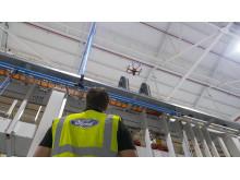 Ford använder drönare för att inspektera i fabriken i Dagenham
