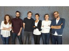 Marta Monge, Maxime Moreaux, Gareth Ladley, Marina Mellado, Bronka de Sage and Silas Grant (lecturer at Central Saint Martins)