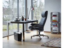 Stressless_Metro_høy_office_Paloma_met_grey