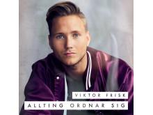 """Omslag, """"Allting ordnar sig"""", Viktor Frisk"""