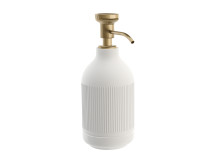Pomd`or_x_Rosenthal_Equilibrium_Free_standing_soap_dispenser_white_Rips_Bronze