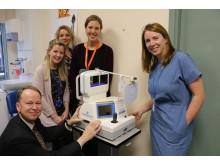 Left to right: Mr Ian Flitcroft, Consultant Paediatric Opthalmologist, Clare Sheehan, Debbi McNamara, Helena Bibby, Corporate Development Manager and Gillian O'Mullane