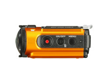 Ricoh WG-M2. orange från sidan