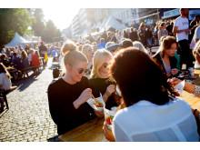 Mattorget på Gustav Adolfs torg under Malmöfestivalen.