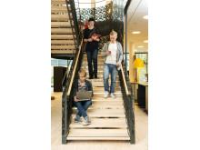 Kulturhus: Interiörbild av trappen