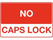 No Caps Lock