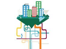 Den hållbara staden - illustration