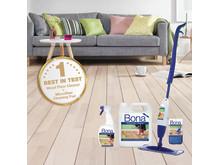 """Bona utsedd till """"Bäst i Test"""" för rengöringsprodukter för trägolv"""