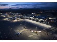 Nye Bergen lufthavn Flesland - helikopterbilder