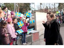 Kronprinsessparets besök på Sandviksskolan i Järfälla