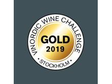 Vinnarsymbolen för Vinordic Wine Challenge 2019
