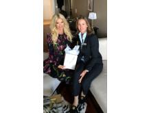 Victoria Silvstedt och Maria Grunditz, Marknadschef KFI Spa Management AB