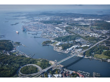 Göteborgs Hamn från ovan.
