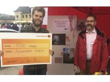 Alexandre Hureau vann fototävlingen med bidraget Kvinna i studentrum