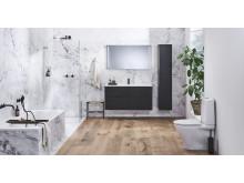IDO Elegant -kalusteet, IDO Design -suihkuratkaisu, IDO Reflect -tasopeili, IDO Trevi -amme, IDO Glow 64 -wc-istuin