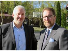 Fra venstre:  Henrik Klemetsen, markedssjef i Canon Norge og Atle Skjekkeland, Senior Vice President i AIIM