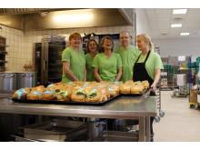 Køkkenet på Langagergård havde været igang fra tidlig morgen med at bage fastelavnsboller