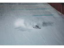 Marcus Kleveland under finalen i X Games big air. Foto: Snowboardforbundet / Matt Pain