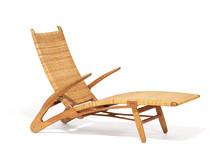 """Hans J. Wegner: """"Delfinstolen"""" / """"Dolphin Chair""""."""